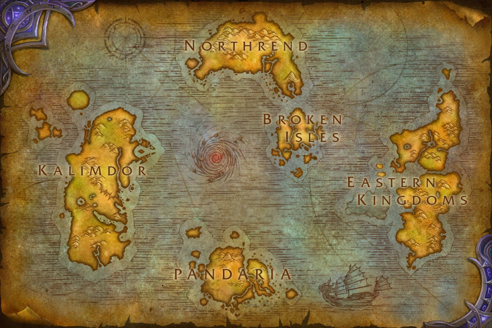 WOW Legion map