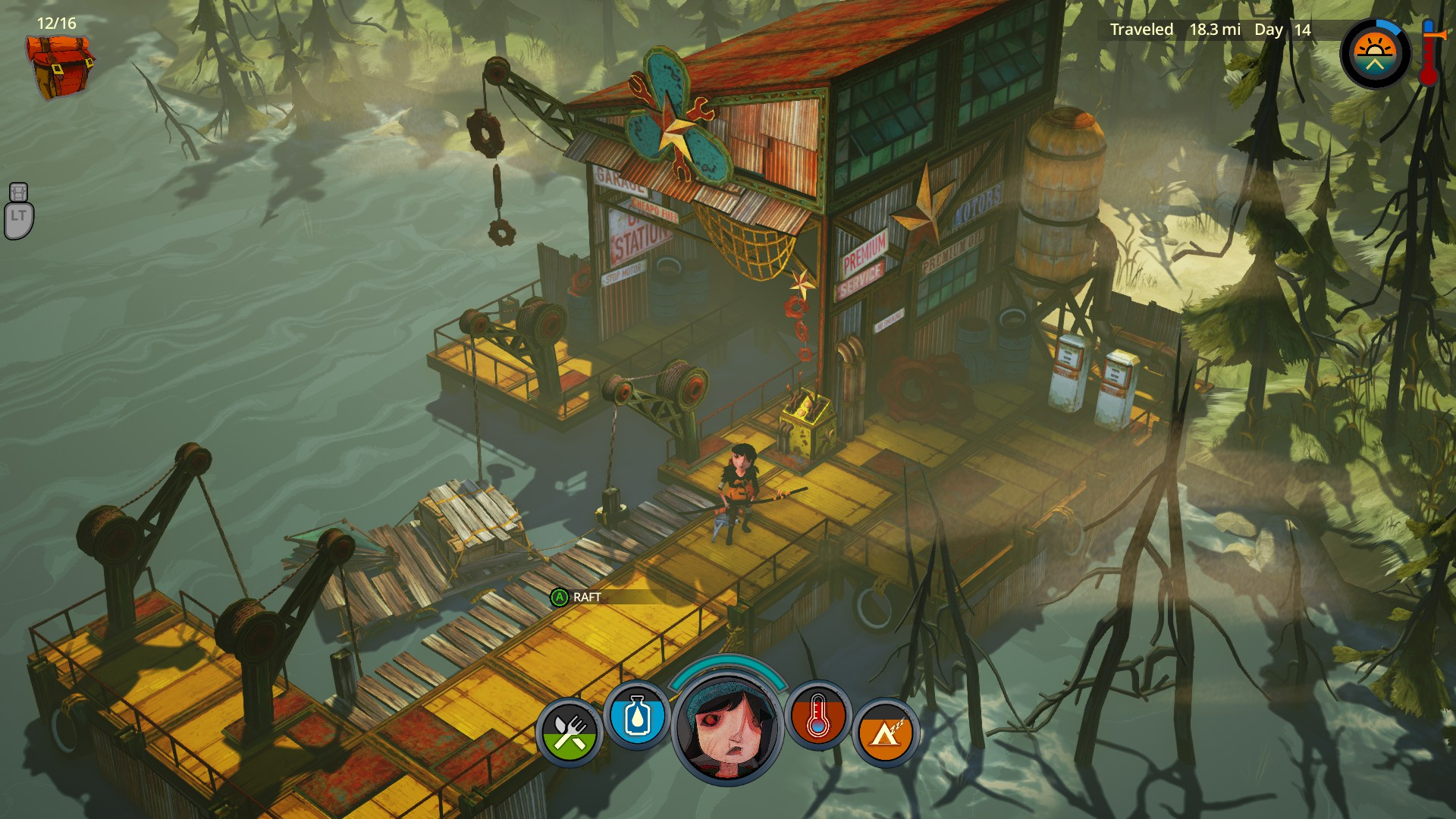 flame in the flood test