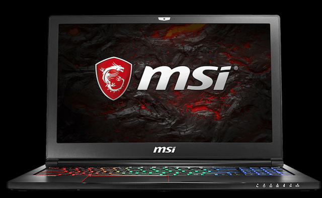 msi gs63vr gaming laptop